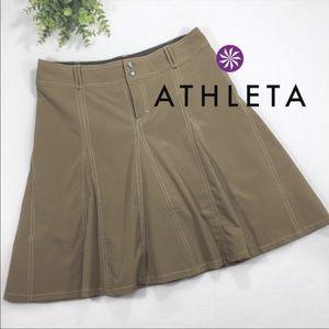 Athleta 8 whatever skort skirt khaki women's